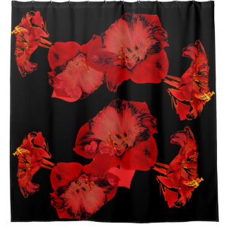 Cortina Para Chuveiro Flores do hibiscus