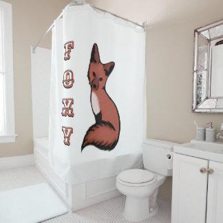 Cortina Para Chuveiro Fox vermelho bonito