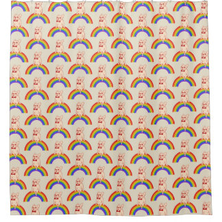 Cortina Para Chuveiro Frenchie comemora o mês do orgulho no arco-íris de