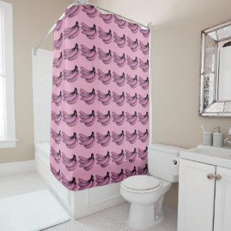 Cortina Para Chuveiro Gráfico cor-de-rosa da banana do pop art