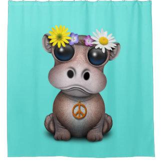 Cortina Para Chuveiro Hippie bonito do hipopótamo do bebê