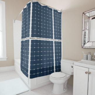 Cortina Para Chuveiro Imagem de um painel de energias solares engraçado