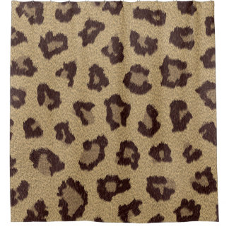 Cortina Para Chuveiro Impressão do leopardo