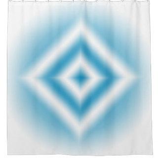Cortina Para Chuveiro inclinação azul do diamante do Personalizar-céu