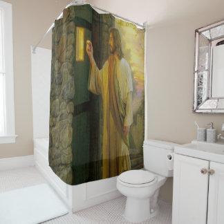 Cortina Para Chuveiro Jesus em seu vintage da porta