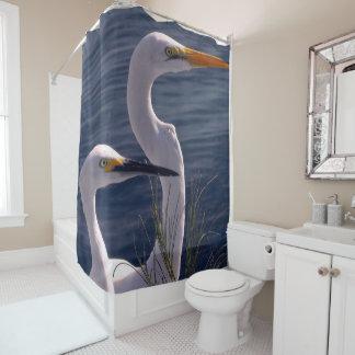 Cortina Para Chuveiro Levantando Egrets