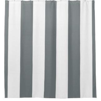 Cortina Para Chuveiro Listra vertical enorme NL #3 de branco cinzento de