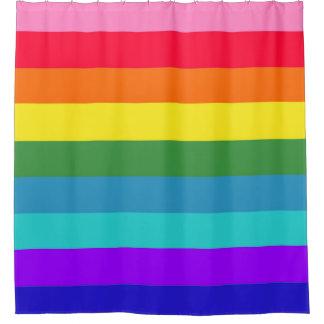 Cortina Para Chuveiro Listras do arco-íris