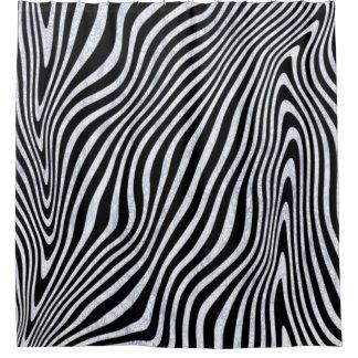Cortina Para Chuveiro Listras gelados da zebra
