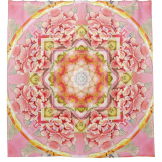 Cortina Para Chuveiro Mandala do coração da cortina de chá da mudança 11