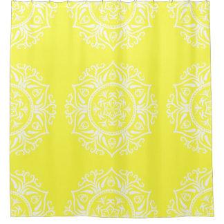 Cortina Para Chuveiro Mandala do limão