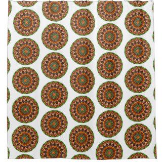 Cortina Para Chuveiro Mandala redonda do Jellybean colorido (impressão