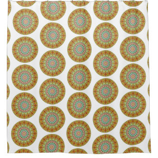Cortina Para Chuveiro Mandala redonda do Jellybean Pastel (impressão do