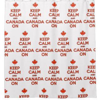 Cortina Para Chuveiro Mantenha a calma & o Canadá sobre no chá;)