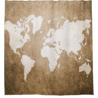 Cortina Para Chuveiro Mapa do mundo do design 56