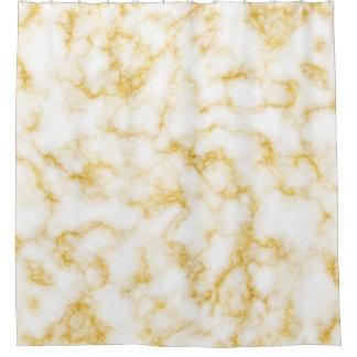 Cortina Para Chuveiro Mármore elegante - branco do ouro