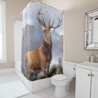 Cortina Para Chuveiro Monarca da cortina de chá animal dos animais