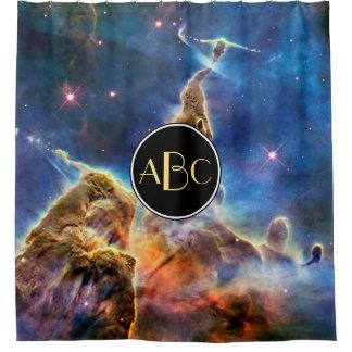 Cortina Para Chuveiro Montanha místico da nebulosa de Carina com