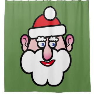 Cortina Para Chuveiro Natal Papai Noel 1,4