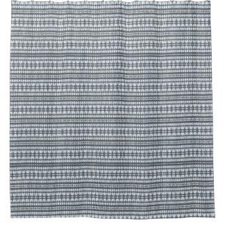 Cortina Para Chuveiro O branco do preto azul empacotado listra a cortina