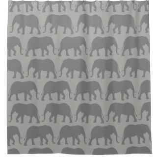 Cortina Para Chuveiro O elefante africano mostra em silhueta o teste