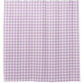 Cortina Para Chuveiro O guingão branco do Lilac (luz - roxo) verifica