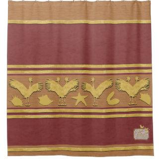 Cortina Para Chuveiro O ouro decorativo marrom descasca a cortina de chá