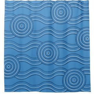 Cortina Para Chuveiro Oceano aborígene da arte