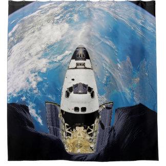 Cortina Para Chuveiro Órbita de terra de Atlantis do vaivém espacial da