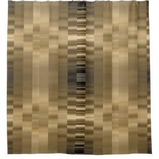 Cortina Para Chuveiro Ouro e cortina de chá preta da fita