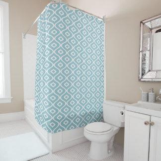Cortina Para Chuveiro Peixes azuis do ornamento - cortina de chá
