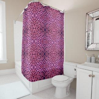 Cortina Para Chuveiro Pele cor-de-rosa e roxa de Jaguar