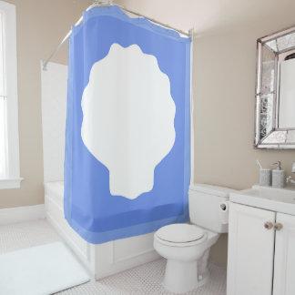 Cortina Para Chuveiro Pérola azul