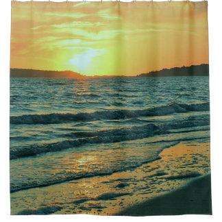 Cortina Para Chuveiro Por do sol do oceano