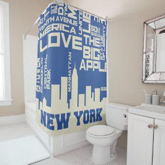 Cortina Para Chuveiro Poster da tipografia da Nova Iorque