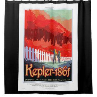 Cortina Para Chuveiro Poster futuro de Sci Fi do viagem da NASA - Kepler