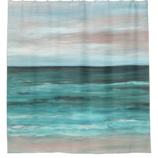 Cortina Para Chuveiro Praia do oceano da opinião 265 do mar