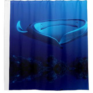 Cortina Para Chuveiro Raio de Manta gigante azul bonito