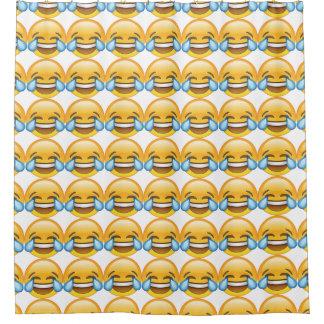 Cortina Para Chuveiro Rasgos de grito de riso do emoji da alegria