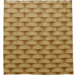 Cortina Para Chuveiro Retângulos protegidos geométricos