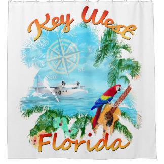 Cortina Para Chuveiro Rocha tropical de Key West
