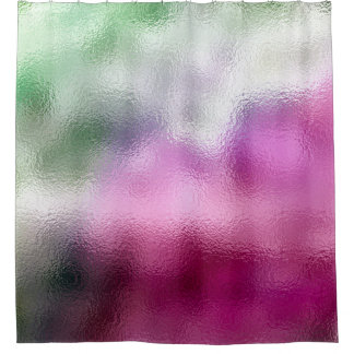Cortina Para Chuveiro Rosa de vidro abstrato mínimo do verde da hortelã