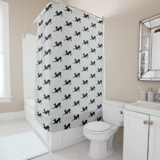 Cortina Para Chuveiro Salvamento da cortina de chá do banheiro do galgo