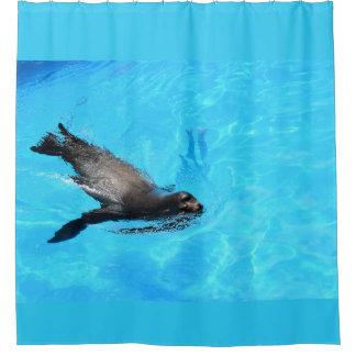 Cortina Para Chuveiro Selo da natação