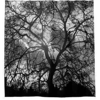 Cortina Para Chuveiro Silhueta da árvore