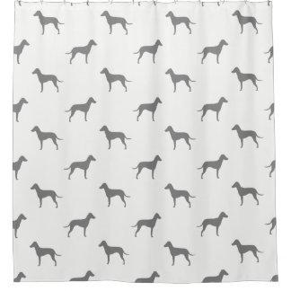 Cortina Para Chuveiro Silhuetas de Manchester Terrier - orelhas naturais