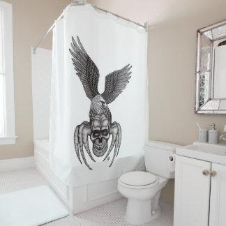 Cortina Para Chuveiro Spiderskull com Eagle