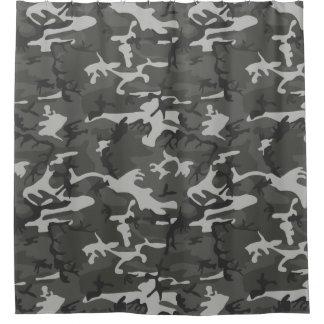 Cortina Para Chuveiro Teste padrão cinzento moderno de Camoflage