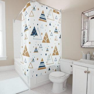 Cortina Para Chuveiro Teste padrão colorido moderno dos triângulos