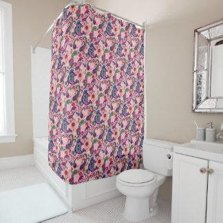 Cortina Para Chuveiro Teste padrão cor-de-rosa bonito de Paisley